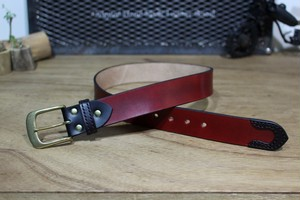 """Color Garrison Belt STD"" Burgundy"