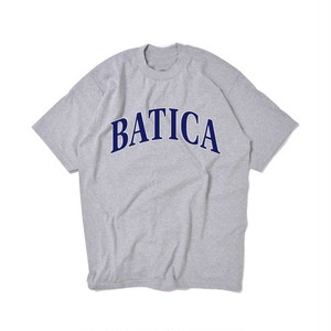 受注予約:BATICA COLLEGE LOGO T-SHIRT GRAY × NAVY