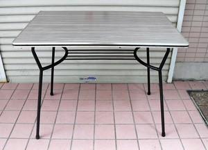 鉄脚のテーブル【木目調/デコラ】(0902112YC)