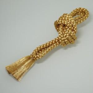 帯締め 正絹 丸組 手組み 金 リユース 003