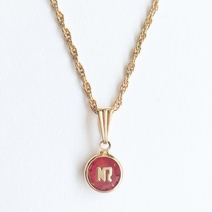 """""""NINA RICCI"""" red necklace[n-222]"""