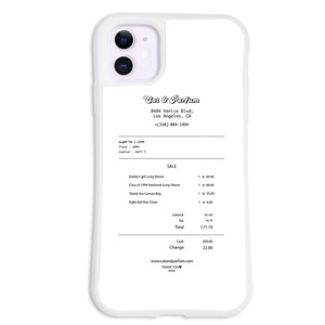 Cat & Parfum Shop Receipt iPhone Case
