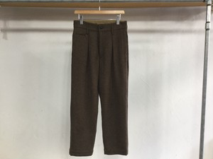 "H UNIT STORE LABEL""TWEED WIDE TROUSERS BROWN"""