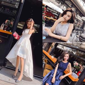 パーティードレス 結婚式 二次会 お呼ばれ ワンピース ノースリーブ お呼ばれドレス ドレス 20代 30代 40代 ひざ上 白ドレス