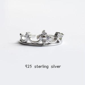 【小物】シルバー925ファッションクラウン形状リング