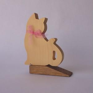 青木家具製作所 猫のドアストッパー