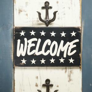 ウッドサインボード WELCOME/STAR