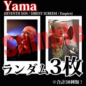 【チェキ・ランダム3枚】Yama(SEVENTH SON / SIRENT SCREEM / Empire)