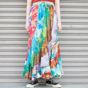 India Cotton Patchwork Skirt