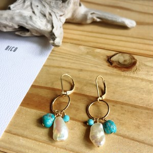 【14kgf】Turquoise21~サーフィン&ビーチピアス~