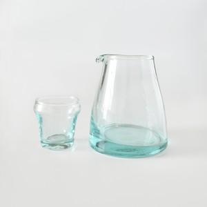 モロッコガラス カラフェ ミニグラス付き S