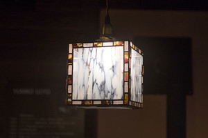 キューブランプ(ステンドグラスの吊りランプ)(ペンダントライト) 01010009