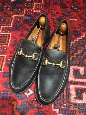 .GUCCI LEATHER HORSE BIT LOAFER MADE IN ITALY/グッチレザーホースビットローファー 2000000046167