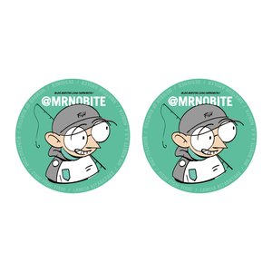 70mm Mr.Nobite CIRCLE STICKKER SET