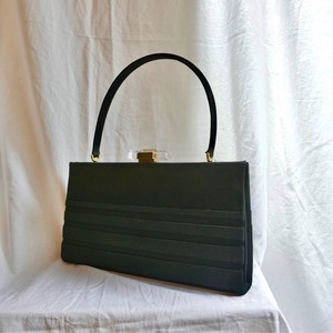 1950-60's Black Satin Hand Bag