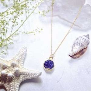 Druzy necklace(Dark purple)