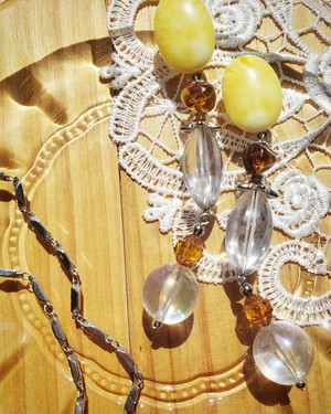 oval yellow × clear brown × clear  《再販なし》