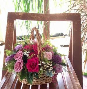 花かご プリザーブドフラワー