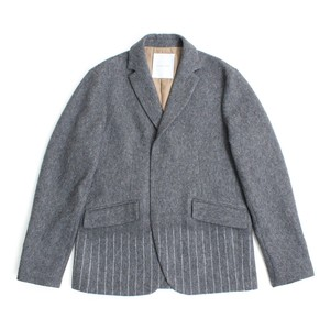 Needle mixing jacket -Gray