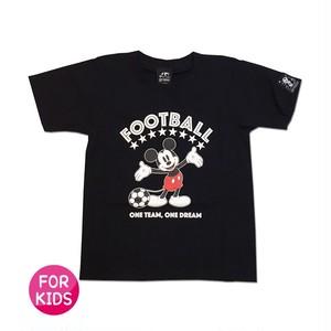 Mickey Mouse コラボ Tシャツ gramo「ONE DREAM」(ブラック/T-022) ※110~150cmサイズ