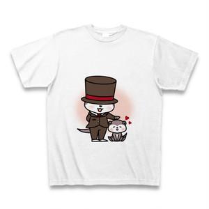 tシャツ 半袖 かわうそ店長×よしよし(ホワイト)