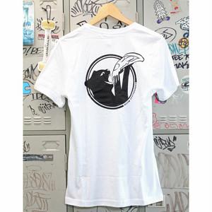 【ミャオ】キャットスナックスTシャツ ホワイト