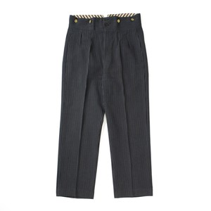 French work striped trousers