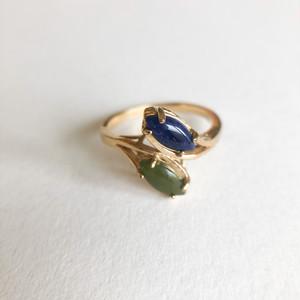 lapis & jade ring #13 [r-151] ヴィンテージリング