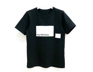 Paimy_17SS_BOXロゴTシャツ/ブラックホワイト