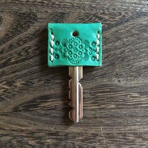 mandala leather key cover