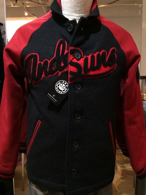 "ANDSUNS(アンドサンズ) ""ANDSUNS VARSITY"" [Black/Red]"
