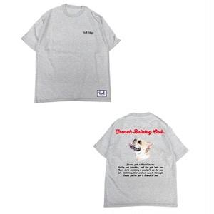 【9/16~9/20】限定受注生産 Bull.Tokyo オリジナル Tシャツ French Bulldog Club クリーム