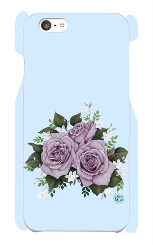 iPhone6/6s パーブルローズのスマホケース(ブルー)