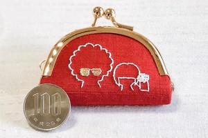 【DJわいざん】日本刺繍で紡いだお手製ミニがま口