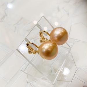 福! 南洋ゴールド真珠のイヤリング・ピアス