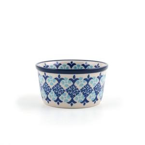 ポーランド陶器 ココット プリン皿 サントリーニ