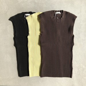 【CINOH】NO SLEEVES KNIT