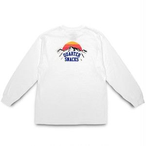 QUARTERSNACKS / MOUNTAIN LONGSLEEVE TEE -WHITE-