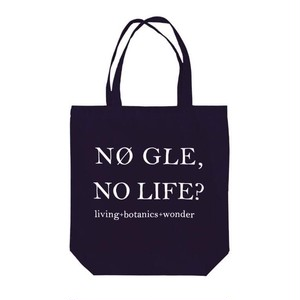 Tote bag【NØ GLE, NO LIFE?】(Black)