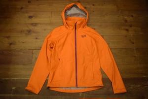 USED レディース マウンテンハードウエア シェルジャケット XS オレンジ DRY.Q エバップ  Mountain Hardwear