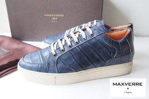 【Sold Out】マックスヴェッレ|MAXVERRE|ローカットスニーカー LOW TOPSNEAKER CROCOSISSE MIDNIGHT|39