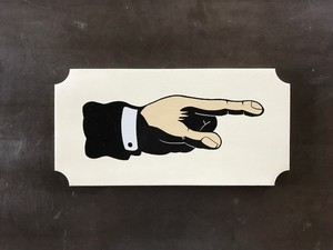 "Signpaint ""Finger""  (白・右)"