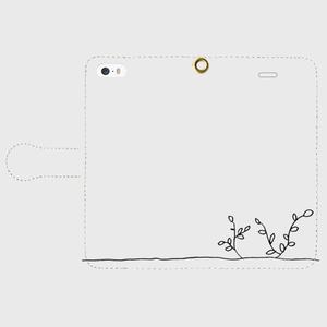 【送料無料】iPhoneSE手帳型スマホケース 芽吹き