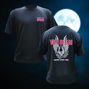 【送料無料】WIDENメインロゴTシャツ【ブラック×ピンク】