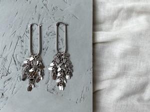 """leaf chain pierce  """"long hoop"""""""