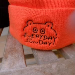 EVERYDAY SUNDAYロゴニットキャップ