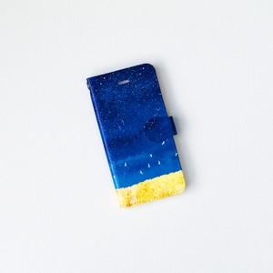 手帳型 iPhoneケース「藍色の、空」
