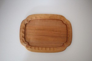 松下由典|木瓜形彫りトレー(桜材)