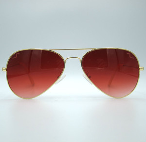 "Shady Spex ""TV Eye"" sunglasses, Gold w/Dark Red Gradient lenses"