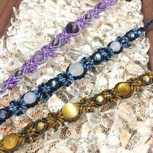 天然石のマクラメ編みアンクレットorブレスレット/花瓶